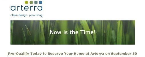 Arterra First Release: September 30
