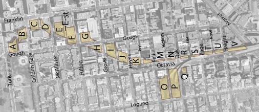 Octavia Boulevard Parcel Map