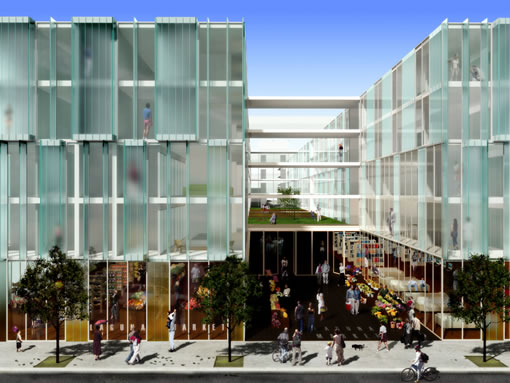 555 Fulton: Courtyard and Market