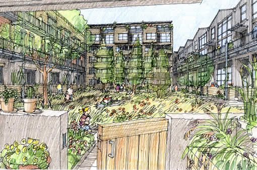 900 Minnesota Courtyard Sketch