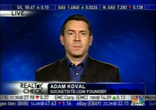 SocketSite Founder Adam Koval on CNBC's Morning Call