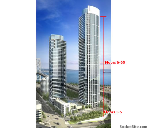 One Rincon Hill Tower One: Floor Facts