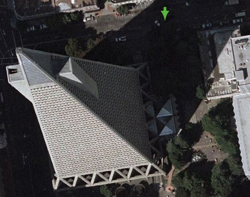 The Transamerica Pyramid and 555 Washington Street