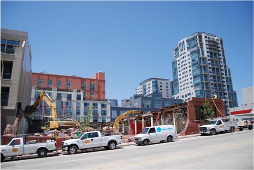 The demolition of 45 Lansing