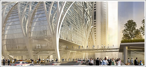 SOM Transbay Transit Center Entrance
