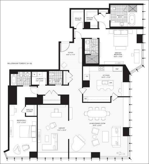 The Millennium: Grand Residence 'C' Plan
