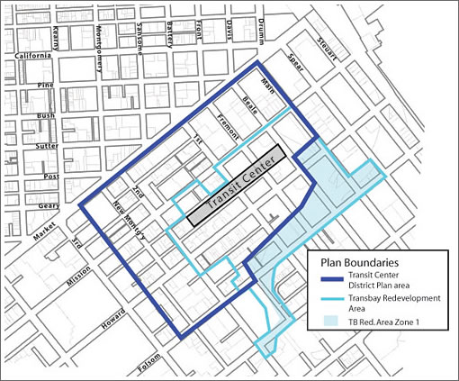 San Francisco's Transit Center District Boundaries