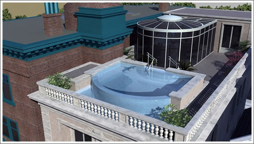 2157 Green Street Rendering: Pool