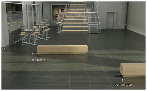 350 Mission: Moving Benches Rendering