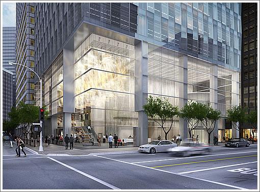 350 Mission Street: Entrance Rendering