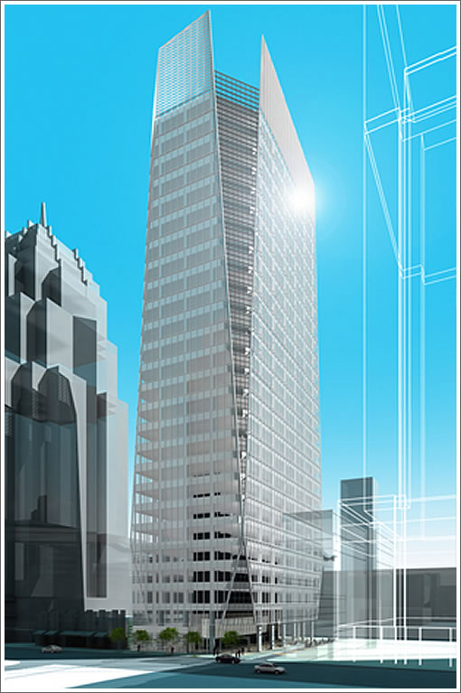 535 Mission Street: Rendering (Image Source: Simon & Associates)