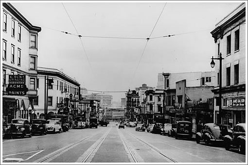 San Francisco's Columbus Avenue circa 1930