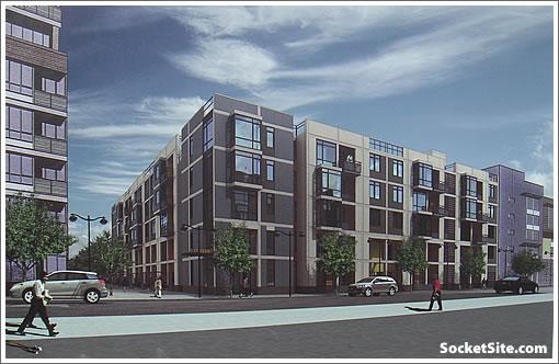 Mission Walk Rendering: View from across Berry Street (www.SocketSite.com)