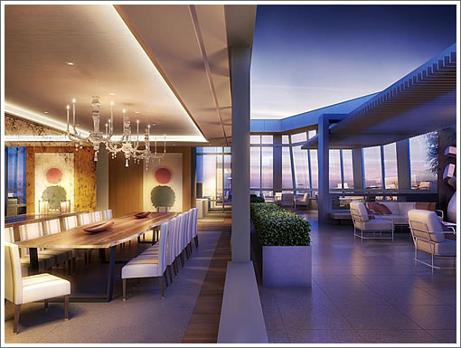 St. Regis Penthouse: Dining and Deck