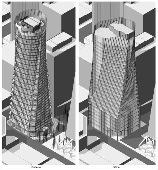 555 Washington: Residential versus Office design
