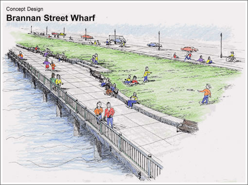 From Piers To Park And The Brannan Street Wharf By 2012