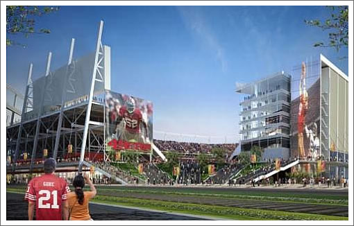 First And Goal For The San Francisco Santa Clara 49ers Stadium