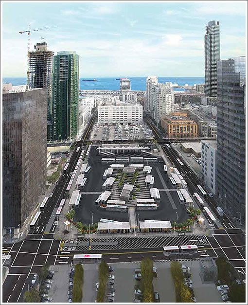 Transbay Temporary Terminal Perspective