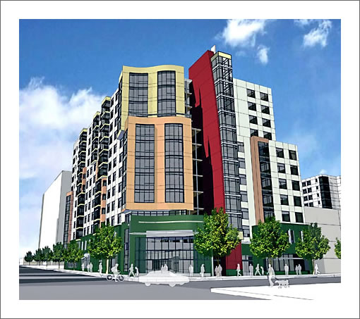 10th and Mission Mercy Housing Rendering
