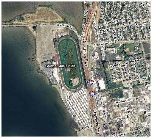 Golden Gate Fields Aerial