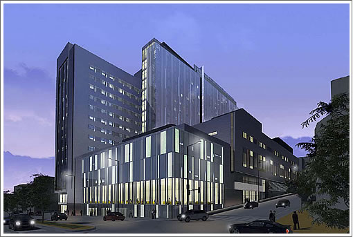 CPMC Cathedral Hill Hospital Night Rendering