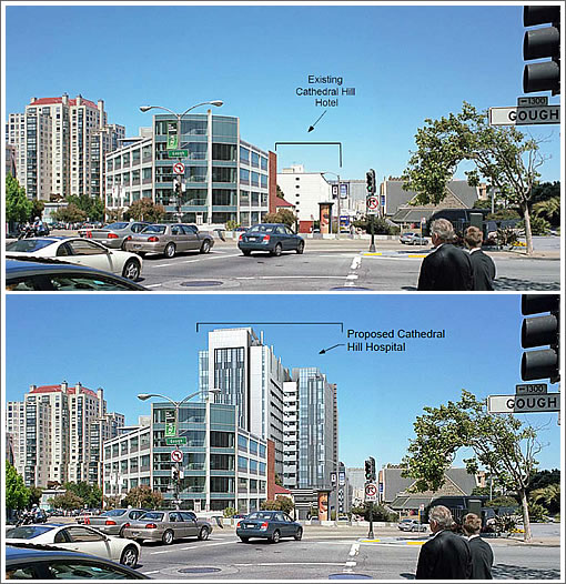 Cathedral Hill Before and After CPMC's proposed Cathedral Hill Hospital