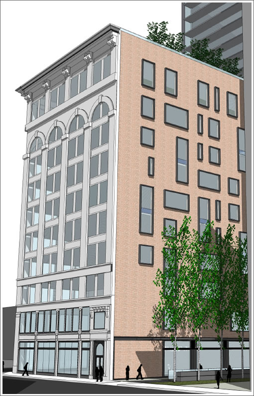 706 Mission North Elevation Rendering