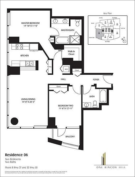One Rincon Hill '06' Floor Plan