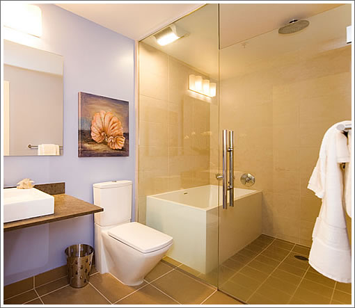 Glass Enclosed Shower at 845 Montgomery
