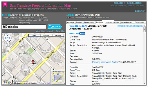 San Francisco Property Information Map SocketSite™ | San Francisco Property Information Map Preview For