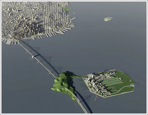 Treasury Island Development Aerial SOM Rendering (Image Source: SOM)