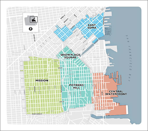 Eastern Neighborhoods Map