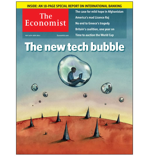 Economist New Tech Bubble Cover