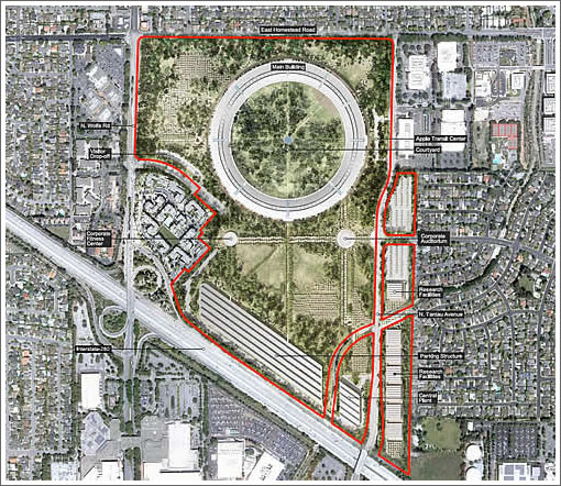 Apple Campus 2 Site Map