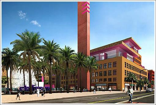 Salesforce Mission Bay Campus Pink Building
