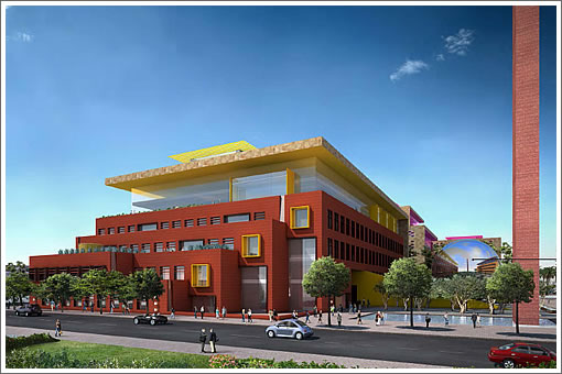 Salesforce Mission Bay Campus Yellow Building