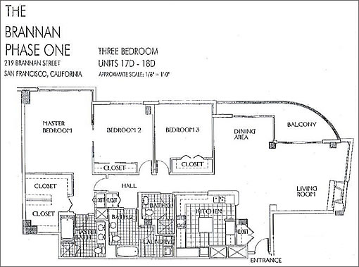 219 Brannan #18D Floor Plan