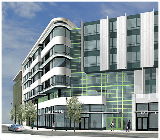 1180 Fourth Street Rendering: Retail