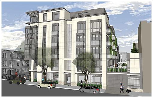 1601 Larkin Rendering Revised: Larkin Street Elevation