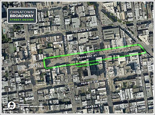 Chinatown Broadway Street Design Boundary