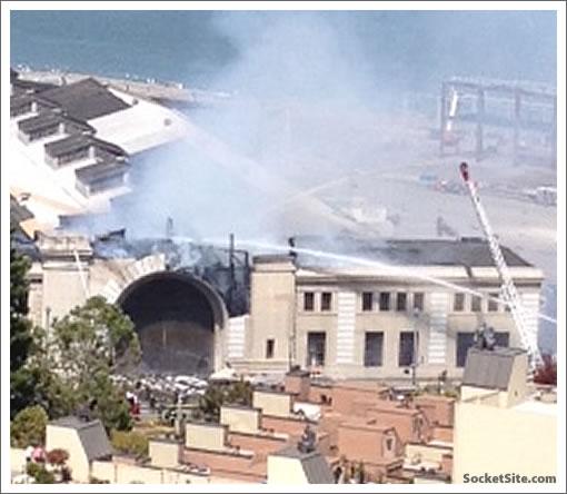 Pier 29 In Flames