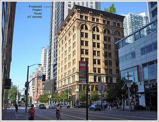 Aronson Building with 706 Mission Rendered