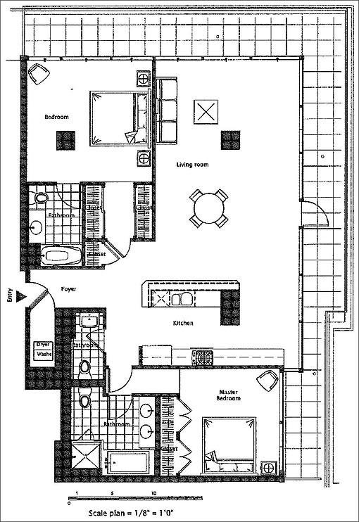 733 Front Street #601 Floor Plan