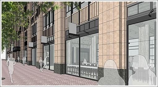 1355 Market Street Rendering: Coffee Shop