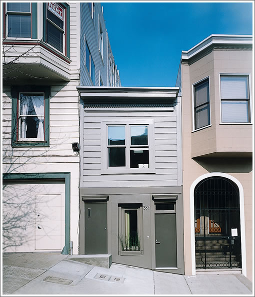 Only Twelve Feet Wide But Living Large On Telegraph Hill