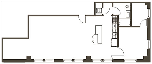 410 Jessie #603 Floor Plan