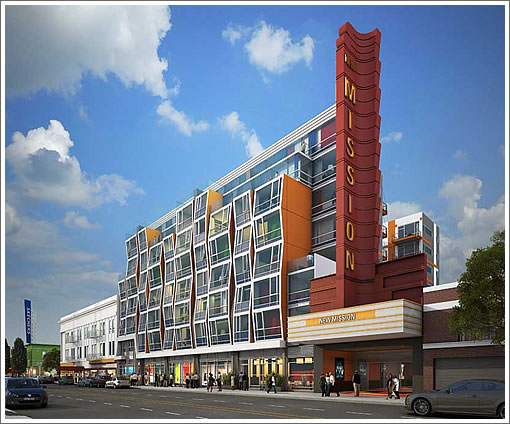 2558 Mission Street Rendering