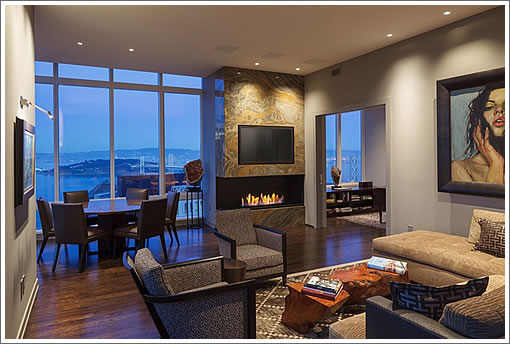 There's Now A Fireplace On The 48th Floor