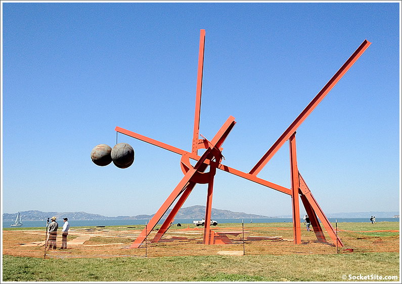Mark Di Suvero's Sculptures Are Going Up Down On Crissy Field
