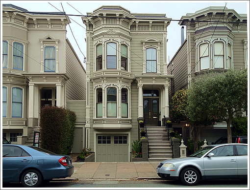 Back Near The Heights (And Full House Façade) On Broderick